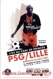 Programme  PSG-Lille  2007-08