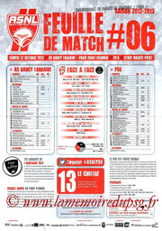 Programme  Nancy-PSG  2012-13