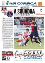 Programme  Ajaccio-PSG  2012-13
