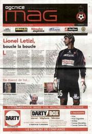 2008-11-01  Nice-PSG (12ème L1, OGC Nice Mag N°117)