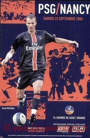 Programme  PSG-Nancy  2006-07