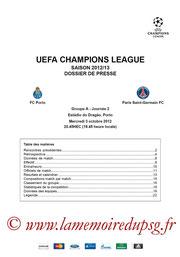 Dossier de presse  Porto-PSG  2012-13