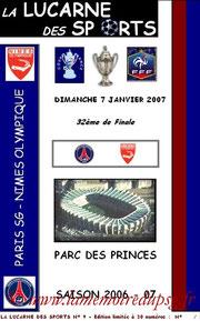 Programme pirate  PSG-Nîmes  2006-07