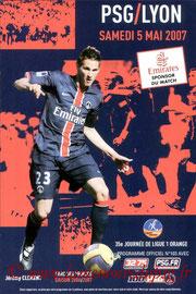 Programme  PSG-Lyon  2006-07