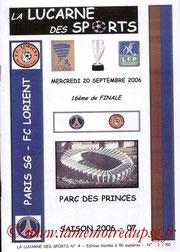 Programme pirate  PSG-Lorient  2006-07