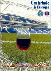Programme  FC Porto-PSG  2004-05
