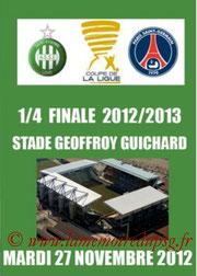 Programme  Saint Etienne-PSG  2012-13