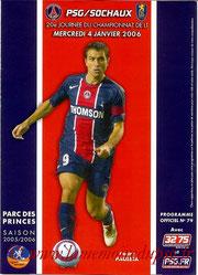 Programme  PSG-Sochaux  2005-06