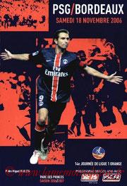 Programme  PSG-Bordeaux  2006-07
