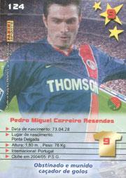 N° 124 - Pedro Miguel PAULETA (Verso)