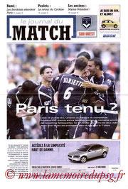 Programme  Bordeaux-PSG  2004-05