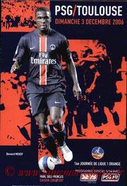 Programme  PSG-Toulouse  2006-07