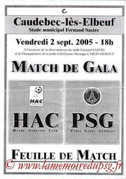 Affichette  Le Havre-PSG  2005-06