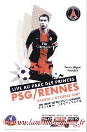 Programme  PSG-Rennes  2007-08
