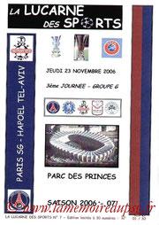 Programme pirate  PSG-Hapoël Tel-Aviv  2006-07