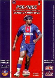 Programme  PSG-Nice  2005-06