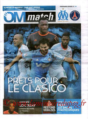 Programme  Marseille-PSG  2012-13