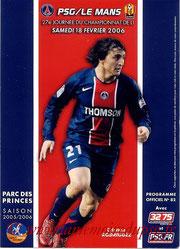Programme  PSG-Le Mans  2005-06