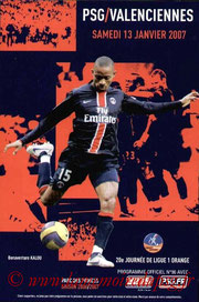 Programme  PSG-Valenciennes  2006-07