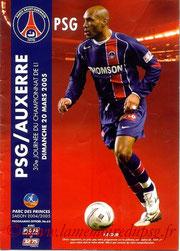 Programme  PSG-Auxerre  2004-05
