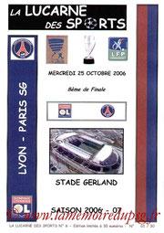 Programme pirate  Lyon-PSG  2006-07