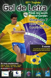 Affiche  10ème Trophée Gol de Letra  2012-13