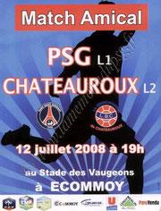2008-07-12  PSG-Chateauroux (Amical à Ecommoy, Affichette)