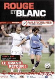 Programme  Valenciennes-PSG  2006-07