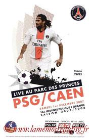 Programme  PSG-Caen  2007-08