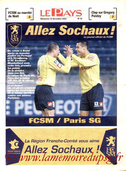 Programme  Sochaux-PSG  2004-05