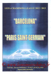 Programme pirate  FC Barcelone-PSG  2012-13