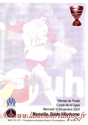 Programme pirate  Marseille-PSG  2004-05