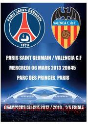 Programme pirate  PSG-FC Valence  2012-13