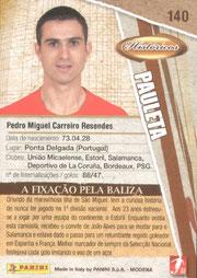 N° 140 - Pedro Miguel PAULETA (Verso)