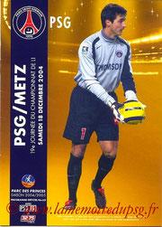 Programme  PSG-Metz  2004-05