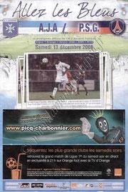 2008-12-13  Auxerre-PSG (18ème L1, Allez les Bleus N°10)