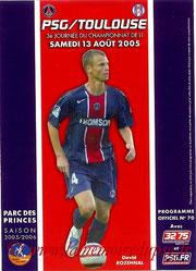 Programme  PSG-Toulouse  2005-06