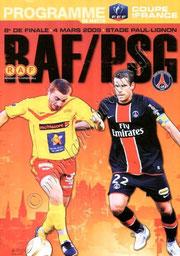 2009-03-04  Rodez-PSG (8ème Finale CF, Programme officiel)