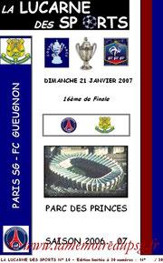 Programme pirate  PSG-Gueugnon  2006-07