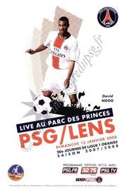 2008-01-13  PSG-Lens (20ème L1, Officiel N°113)