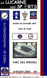 Programme pirate  PSG-Valenciennes  2006-07