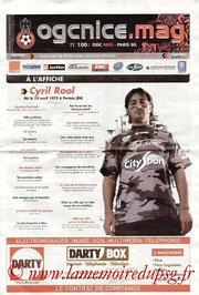 Programme  Nice-PSG  2007-08