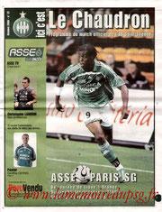Programme  Saint Etienne-PSG  2006-07