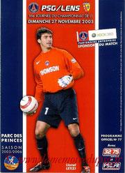 Programme  PSG-Lens  2005-06