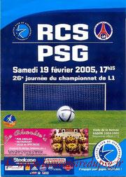 Programme  Strasbourg-PSG  2004-05