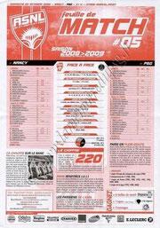 2008-10-05  Nancy-PSG (8ème L1, Feuille de match N°5)
