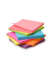 Stapel aus bunten Post-its