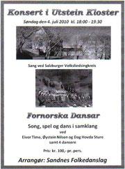 Konzertplakat Norwegen 2010