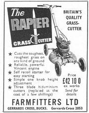 Ancienne publicité Tondeuse RAPIER
