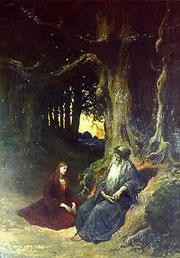 Merlin et Viviane à Brocéliande